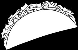 Drawn taco black and white