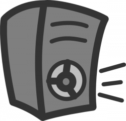 Speakers clipart cartoon