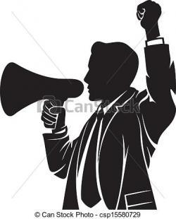 Speakers clipart megaphone man