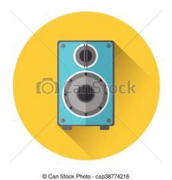 Speakers clipart music studio
