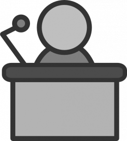 Speakers clipart podium