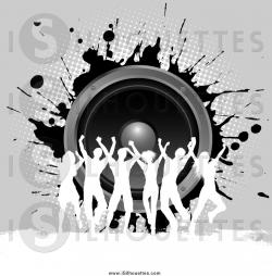Speakers clipart silhouette