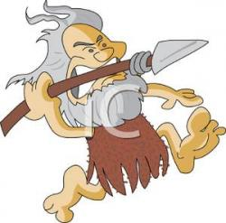 Spear clipart caveman