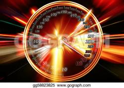 Speedometer clipart acceleration