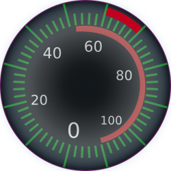 Speedometer clipart cartoon