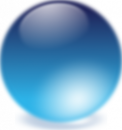 Sphere clipart blue crystal