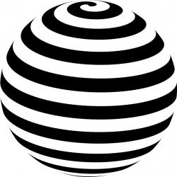 Sphere clipart spiral