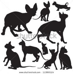 Sphynx clipart silhouette