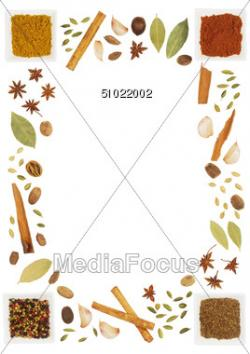Spices clipart border