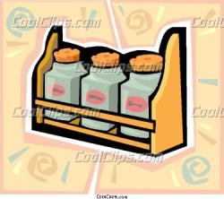 Spices clipart spice rack