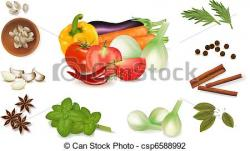Spices clipart vegetable