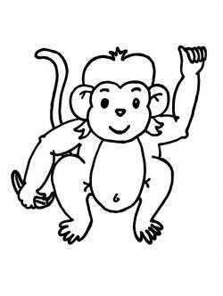 Chimpanzee clipart black and white