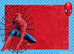Spiderman clipart birthday invitation card