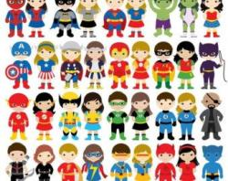 Superman clipart superhero costume