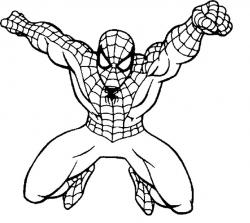 Spider-Man clipart coloring page