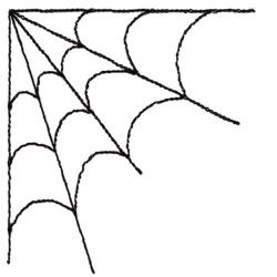 Spiderman clipart corner spider web