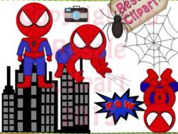 Spiderman clipart digital