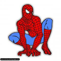 Spiderman clipart simple