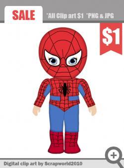 Spiderman clipart supe hero