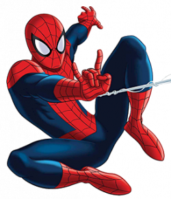 Spiderman clipart red and blue