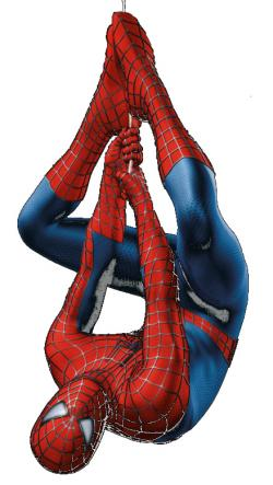 Spiderman clipart upside down