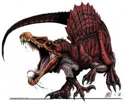 Drawn dinosaur spinosaurus