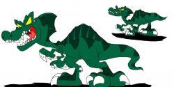 Spinosaurus clipart walk with dinosaur
