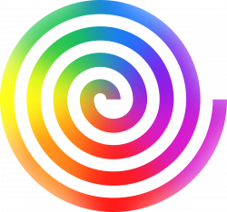 Colouful clipart spiral