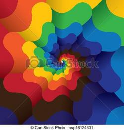 Spiral clipart abstract