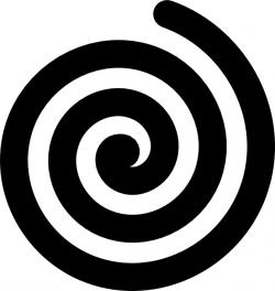 Spiral clipart black and white