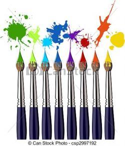 Color clipart paintbrush