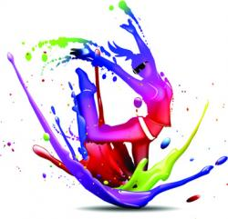 Glow clipart color design