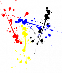 Splatter clipart colour splash