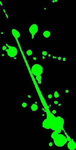 Splatter clipart lime green paint