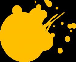 Orange clipart splat