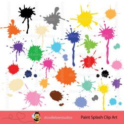 Splatter clipart snow