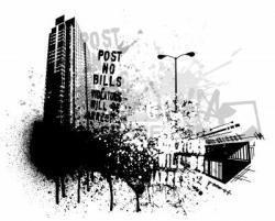 Splatter clipart urban