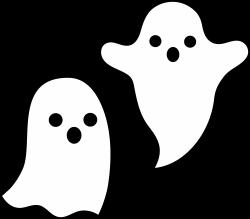 Drawn ghostly cute