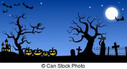 Spooky clipart background