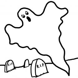 Ghostly clipart scare