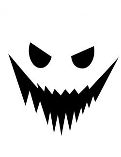 Spooky clipart ghost face