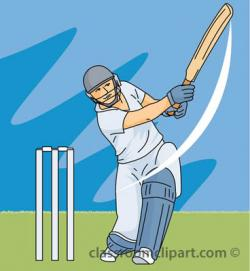 Cricket clipart cricket player