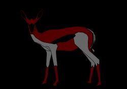 Springbok clipart deer