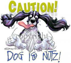 Springer Spaniel clipart happy dog