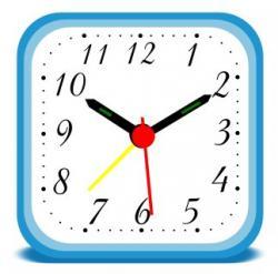 Squares clipart alarm clock