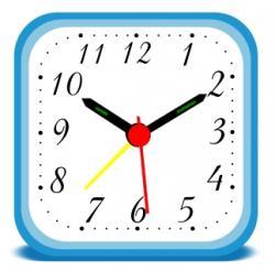 Squares clipart clock ticking