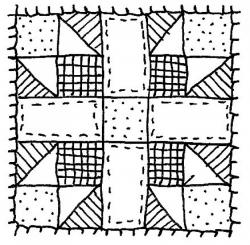 Drawing clipart quilt