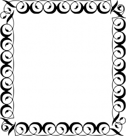 Square clipart filigree