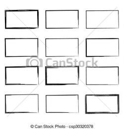 Drawn vector rectangle