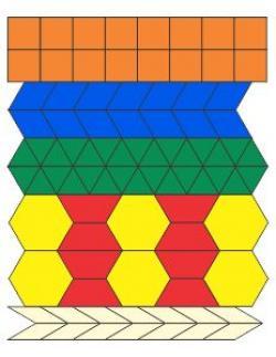 Rhomb clipart pattern block
